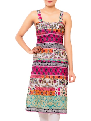 multicolored cotton printed kurti