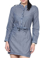Blue  Full Sleeved Formal Shirt - By
