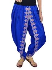 Blue Printed Dhoti Pants - 9rasa
