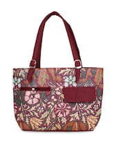 Multicolored Faux Leather Printed Shoulder Bag - By