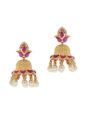 Multicoloured Beads Embellished Earrings - By - 9567655