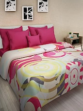 Multicolored Cotton Printed Double Bed Quilt - By - 9569866
