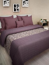 Multicolored Cotton Printed Double Bed Quilt - By