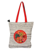 Multi-coloured Tote Bag With Patchwork - Pick Pocket