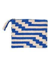Blue Zip Top Pouch - Diwaah