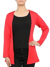 Solid Red Open Jacket - By