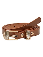 Brown  Genuine Leather Belt - By