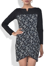 Black And Grey Printed Viscose Dress - By - 9572383