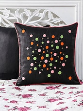 Black  Embroidered Cushion Cover