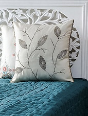 White  Embroidered Cushion Cover