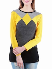 Yellow, Grey And Black Winter Tunic - Madrona