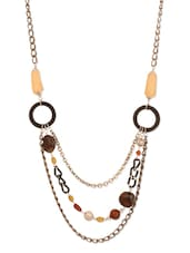 Beaded Metallic Chain Necklace - Blend Fashion Accessories