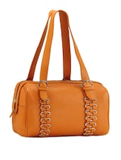 Orange Genuine Leather Handbag - Phive Rivers