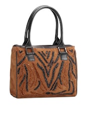 Brown And Black Genuine Leather Handbag - Phive Rivers