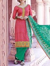 Pink Multi Printed Pure Cotton Suit Set - By