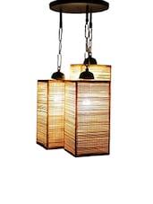 Brown Bamboo Hanging Lamp Shade - By