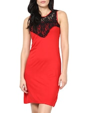 Red Sleeveless Bodycon Dress - Stykin