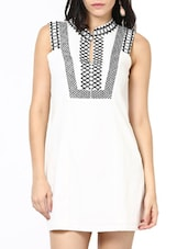Off White Short Dress - Stykin