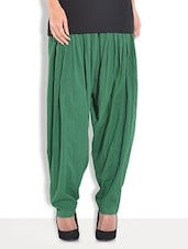 Green Cotton Plain Patiala - By
