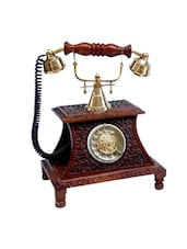 Wood Carving Maharaja Phone Wooden Vintage Phone - Onlineshoppee