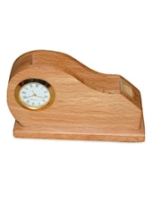 Wooden Multipurpose Pen,Card Holder With Clock - Onlineshoppee
