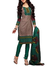 Cotton Printed Semi Stitched Suit Set - By