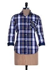 Bright Blue Chequered Shirt - Fast N Fashion