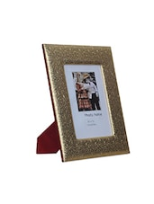 Gold Wood And Leatherette Photo Frame - By