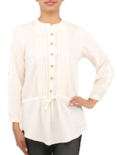 Solid Cream Cotton Tunic - By