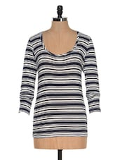 Navy Blue Striped Top - Colors Couture