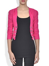 Pink Poly Georgette Coat - By