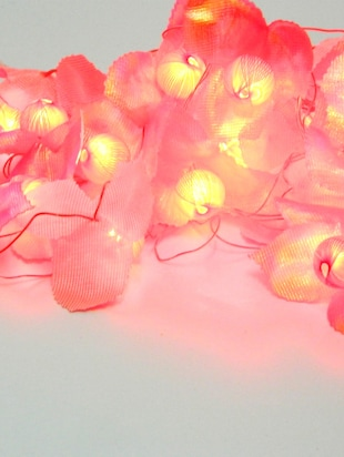 Multicolored floral plastic string light