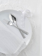 Stainless Steel Fork And Spoon Set Of 12 - By