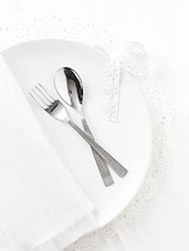 Stainless Steel Dinner Fork And Spoon Set Of 12 - By