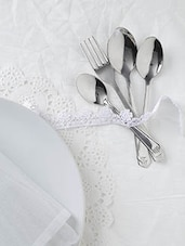 Stainless Steel 24 Piece Cutlery Set With Stand - By - 9590257