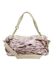 Pink Animal Print Handbag - Thegudlook