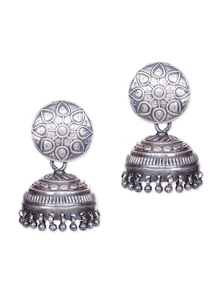 Sterling Silver Ethnic Jhumkas