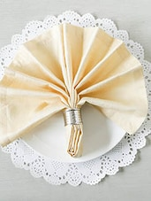 Gold Square Table Napkins (Set Of 6) - By