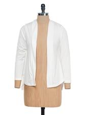 White Full Sleeves Shrug - @ 499