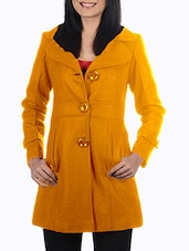Yellow Woolen Felt  Long Coat - By