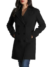 Black Woolen Felt  Long Coat - By