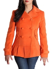 Red Woolen Felt  Long Coat - By
