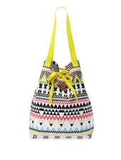 Multi Clor Chevron Print Handbag - Be... For Bag
