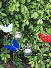 Multicolored Iron And Glass T - Light Holders - By - 9605092
