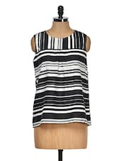 Striped Regular Fit Sleeveless Top - VAAK