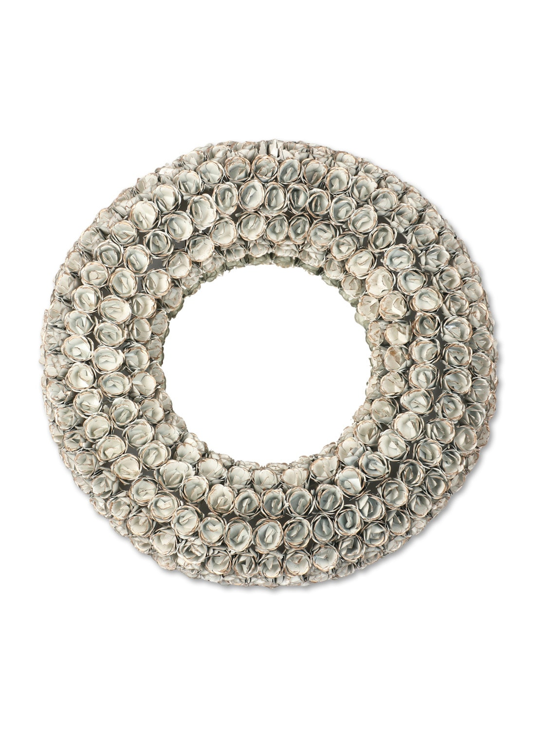 Silver Iron Round Wall Mirror - By