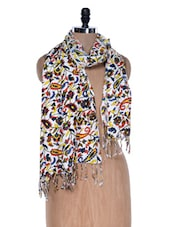 Multicoloured Floral Printed Scarf - VR Designers