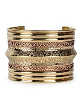 Lovely adjustable golden cuff -  online shopping for bracelets