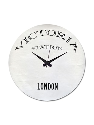White Printed Victoria Abstract Wall Clock