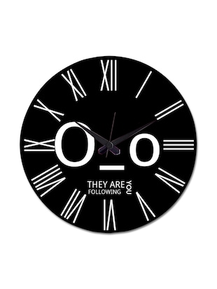 Black Printed They Are Following Wall Clock